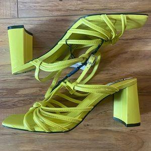 Zara Neon Block Sandals